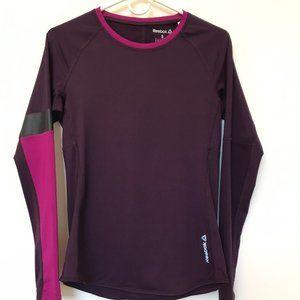 Reebok Long Sleeve Athletic Top Maroon Size Small